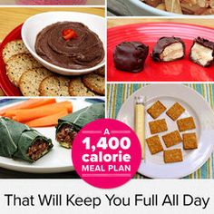 Eat Smarter and Stay Satisfied With Our 1,400 Calorie Meal Plan