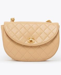 baff4a048418 Vintage Chanel beige mini quilted cross body bag