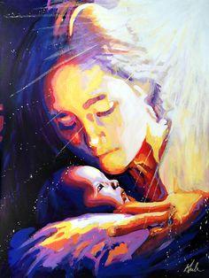 "Loves Pure Light - 30"" x 40"" acrylic on canvas by Steve Gamba"