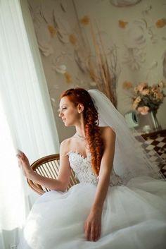 Fish-tail braid and wedding weil