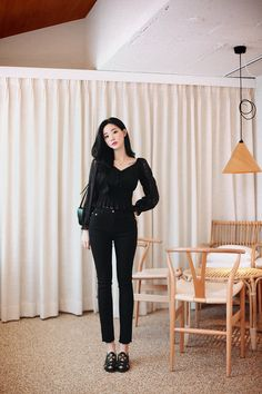 College Outfits, Office Outfits, Girl Outfits, Cute Outfits, Cute Fashion, Asian Fashion, Korean Casual Outfits, Elegant Wedding Hair, Ulzzang Fashion