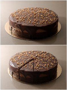עוגת מוס נוטלה - פצפוצים