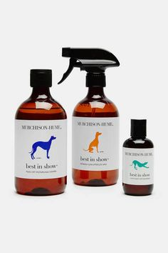 Murchison-Hume was founded on the notion that luxury and practicality can co-exist happily at home. The company's eco-friendly cleaning products, with their brown apothecary-style bottles and whimsical labels, include the Best in Show pet care range, which is scented only with natural essential oils. Fresh Coat is a moisturizing shampoo designed especially for dogs. Free of sulfates and silicone, it is infused with lavender oil to calm dry, itchy skin. This cleansing formula also naturally…