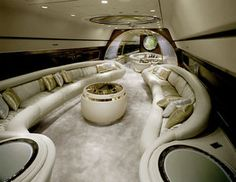 Beautiful insides of private jets