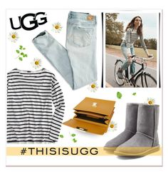 """""""Play With Prints In UGG: Contest Entry"""" by georginamaybrown ❤ liked on Polyvore featuring UGG Australia, American Eagle Outfitters, J.Crew, Balenciaga and thisisugg"""