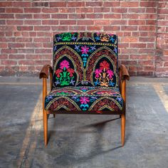 50s Chair Suzani Velvet Black now featured on Fab.