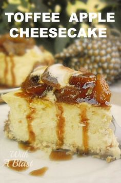 This Toffee Apple is so simple to make - an old-fashioned, basic baked cheesecake with the most decadent sweet and sticky Apple topping Best Dessert Recipes, Apple Recipes, Cheesecake Recipes, Easy Desserts, Baking Recipes, Holiday Recipes, Delicious Desserts, Recipe For Apple Cheesecake, Old Fashioned Cheesecake Recipe
