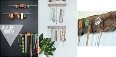18 ideas para organizar collares, pendientes y pulseras