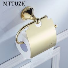 21.86$  Buy now - http://alifx7.shopchina.info/go.php?t=32805897137 - MTTUZK Gold plating brass paper towel rack europe style bathroom paper holder  toilet paper box toilet accessories 21.86$ #magazineonlinewebsite