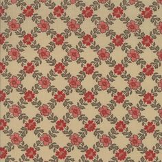 Moda - Josephine - 13658 15 - French General - Floral grid pattern