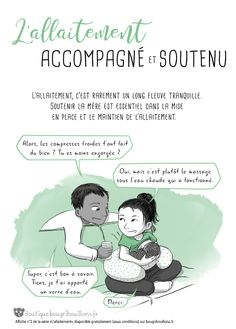 Affiche allaitement Bougribouillons 2 Affiche a Pregnancy Smoothies, Education Positive, American Academy Of Pediatrics, Baby Planning, Breastfeeding Tips, Doula, New Words, Positive Attitude, Baby Fever