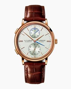 A. Lange & Sohne Saxonia Dual Time (SIHH 2015 novelty) in pink gold
