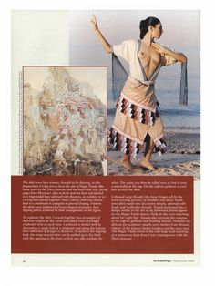 replicas of Minoan clothing by Bernice Jones, in Archaeology Magazine Ancient Rome, Ancient Greece, Ancient Art, Ancient History, Ancient Greek Clothing, Minoan Art, Viking Reenactment, Greek Warrior, Mycenaean
