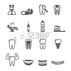 Iconos dentales Vectores