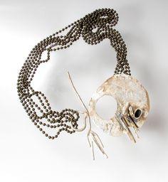 Roxy Lentz necklace of repurposed metal.