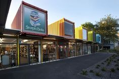 Shipping containers replace downtown shopping area in Christchurch NZ after massive earthquake. It took only 4 months to build. http://media4.architecturemedia.net/site_media/media/cache/a3/0d/a30d00df8c229da785ad878485e0f331.jpg