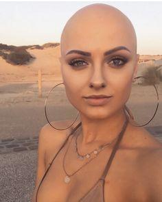 Bald Head Women, Shaved Head Women, Shaved Heads, Girl Short Hair, Short Hair Cuts, Short Hair Styles, Bald Women Fashion, Shaved Hair Cuts, Buzzed Hair