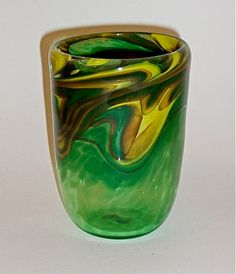 "Blown Glass: Tumblers - ""There is nothing like drinking out of a glass that is hand blown. The feel of it in your hand and against your lips is so sensuous and the colors are beautiful to behold.""  $29"