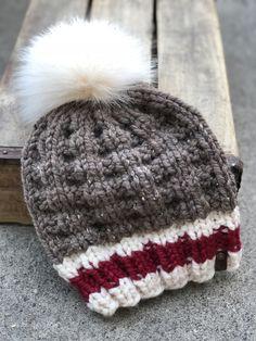 Baby Hats Knitting, Knitting Socks, Knitted Hats, Crochet Hats, Sock Monkey Pattern, Sock Monkey Hat, Loom Knitting Projects, Easy Knitting Patterns, Loom Knit Hat