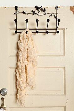 Bird Vine Over The Door Hook.  For college dorm decor in little space. via urbanoutfitters.com