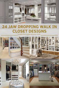These 24 walk in closet designs are stunning (photo) Walk In Closet Design, Closet Designs, Stylish Home Decor, Diy Home Decor, Interior Architecture, Interior And Exterior, Home Decor Inspiration, Decor Ideas, Closet Shelves