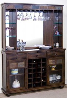 Lovely Bar and Hutch Set