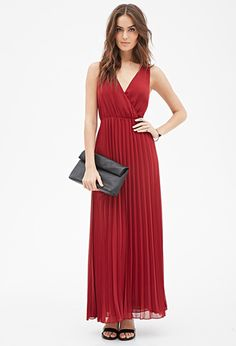 Accordion-Pleated Maxi Dress..not a fan of the shoes but love the dress