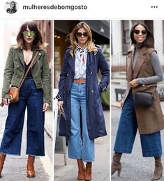Source by outfit Mode Outfits, Jean Outfits, Casual Outfits, Fashion Outfits, Cropped Jeans Outfit, Denim Outfit, Fall Winter Outfits, Autumn Winter Fashion, Coulottes Outfit