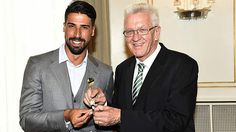 World Cup winner Sami Khedira received the Baden-Württemberg Order of Merit from Winfried Kretschmann on Sunday. Khedira was recognised for his co-operation and fair play both on and off the pitch.