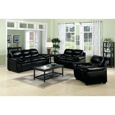 Living Room Furniture Sets  Livingroomfurnituresetscoaster Beauteous Black Leather Living Room Furniture Decorating Design