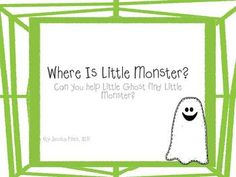 Where is Little Monster? Printable book for positional concepts