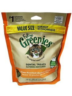 Feline Greenies Dental Treats Oven Roasted Chicken for Cats 5.5 oz *** To view further for this item, visit the image link.
