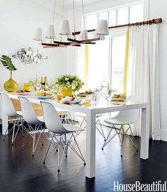 Mixing Traditional And Modern Yellow Table Wire Dining Room Custom Wire Dining Room Chairs 2018