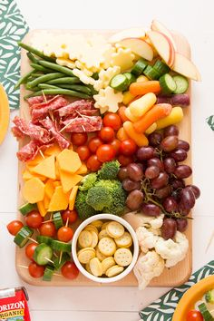 Make this kid-friendly appetizer board for the little ones. #kids #cheeseboard