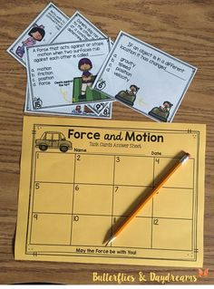 {Force & Motion Task Cards} Aligned to 4th Grade Science Standards, Includes 28 Task Cards to practice or assess objects in motion