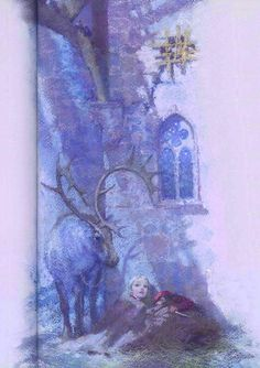 Christian Birmingham illustration from 'The Snow Queen' adapted from the Hans Christian Andersen story by Naomi Lewis, 1991 Children's Book Illustration, Illustrations, Ice Queen Adventure Time, Snow Maiden, Matou, Snow Queen, Fantasy Art, Fantasy Makeup, Oeuvre D'art
