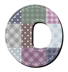 Buchstabe / Letter - O (Patchwork / Quilt)
