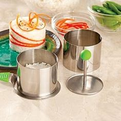 Stainless Steel Food Ring Set in Autumn 2012 from Artisan Table on shop.CatalogSpree.com, my personal digital mall.