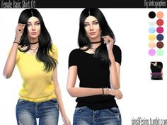 The Sims Resource: Basic Shirt 01 by simtographies • Sims 4 Downloads