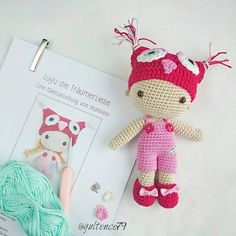 Amigurumi Luyu ❤ Pattern made by @munisesi / örgü oyuncak / Häkelpuppe