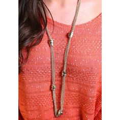 Rolo long necklace