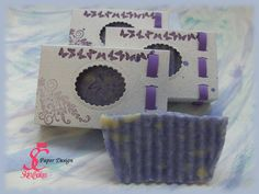 Lilac soap box - hand made box for hand made soap