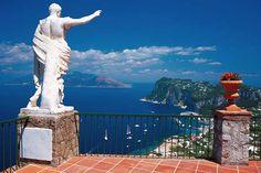 Panorama of the port of Capri