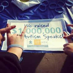 Alpha Xi Delta has raised more than one million dollars for Autism Speaks!