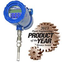 The MTI10 Insertion/MTL10 Inline Thermal Flowmeter for measurement of gases and air has been selected as a winner in the 2013 Plant Engineering Product of the Year Contest with a Bronze award in the Fluid Handling category.