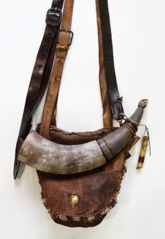 Contemporary Makers: Hunting Pouch and Powder Horn Set by Matthew Fennewald