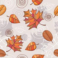 padrão folhas outono