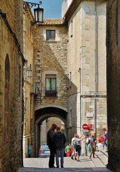 Rincón de Girona medieval en Cataluña