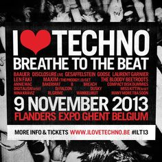 I Love #Techno 2013 - Find our more about the #festival here: http://festkt.co/FRhUu5