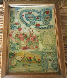 Victorian Collage Victorian Framed Collage by mybonvivant on Etsy